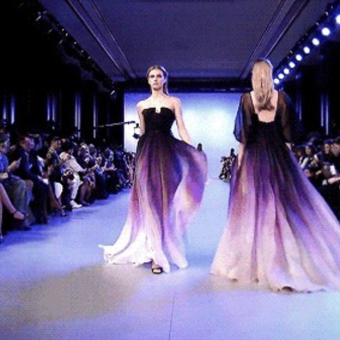 2017 fashion dress trends - Ombre Purple Dress Images