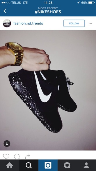 shoes nike shoes running shoes sparkle