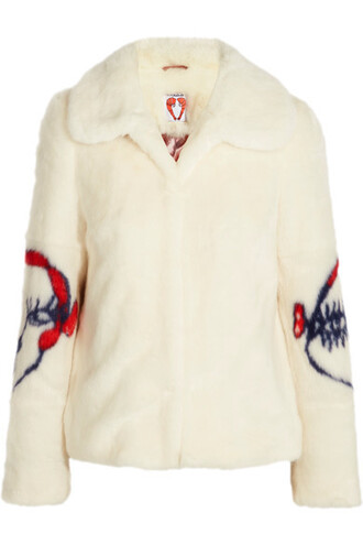 coat faux fur coat fur coat fur faux fur cream