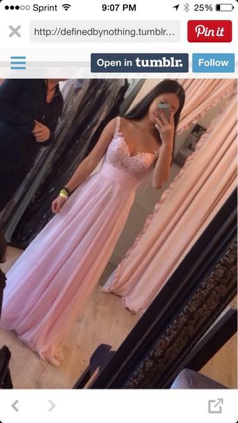 dress pink prom dress