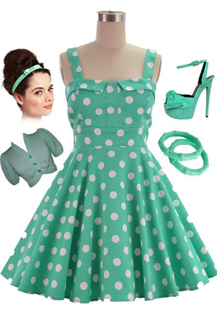 Pin-up style dress ebay