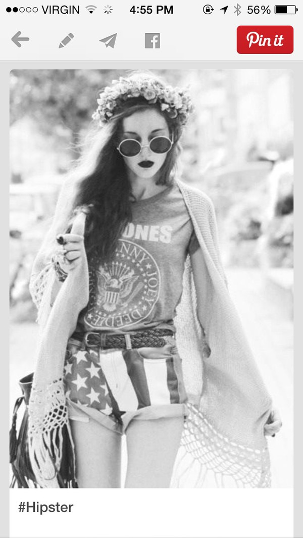 graphic tee band t-shirt sunglasses american flag shorts