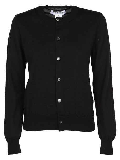 Comme des garcons cardigan knitted cardigan cardigan black sweater
