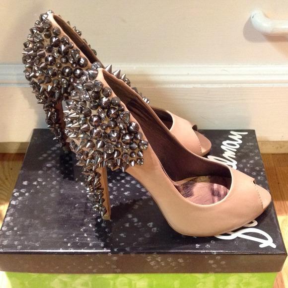 Sam edelman spiked open toe heels from brianna's closet on poshmark