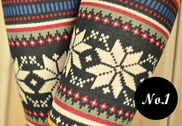 Nordic Baby Deer Reindeer Snowflake Leopard Multi Knitted Wool ...