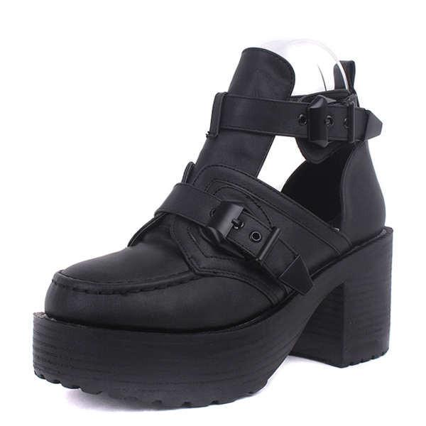 Opel block heel boots