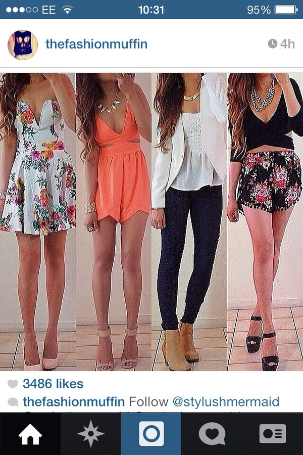 dress jacket jeans jewels shoes shirt shorts tank top