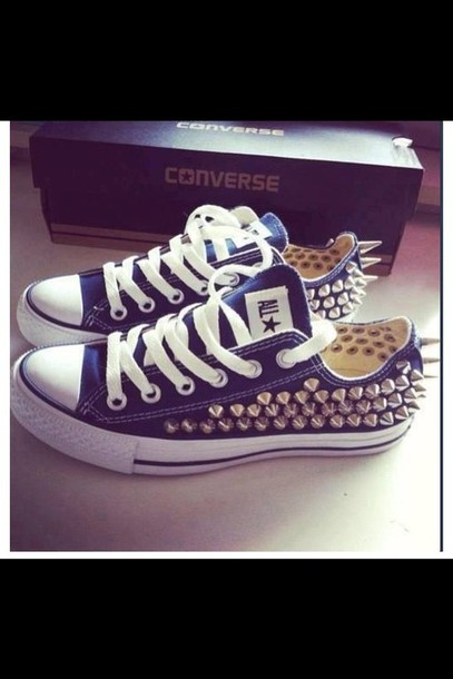 shoes converse studded shoes