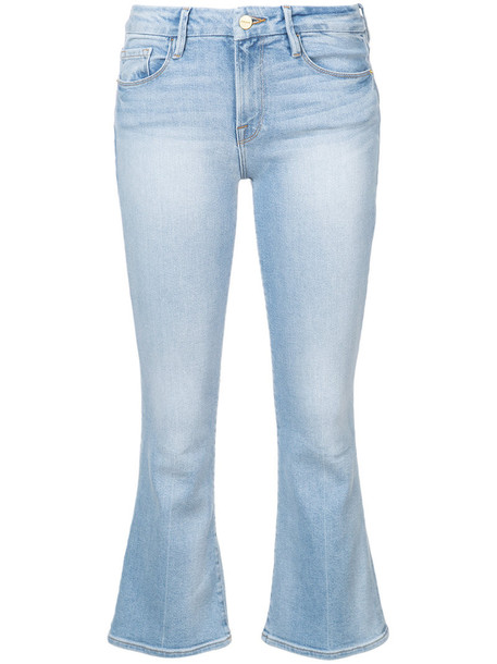 jeans cropped bootcut jeans cropped women spandex water cotton blue