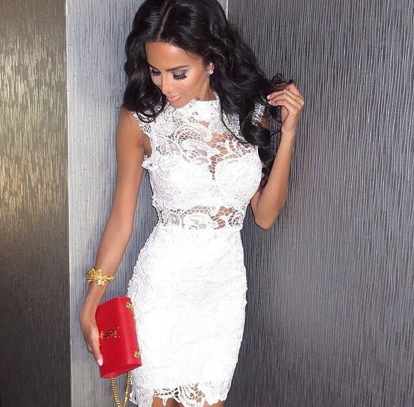 white lace dress dress