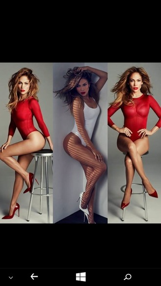 white bodysuit long sleeves louis vuitton red red lipstick