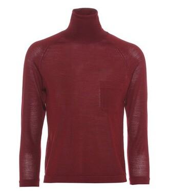 sweater turtleneck turtleneck sweater wool red
