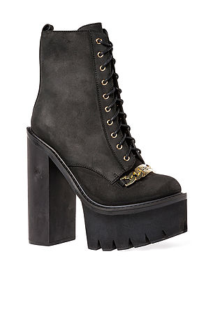 Jeffrey Campbell The HBIC ID Chain Boot in Black and GoldExclusive : Karmaloop.com - Global Concrete Culture