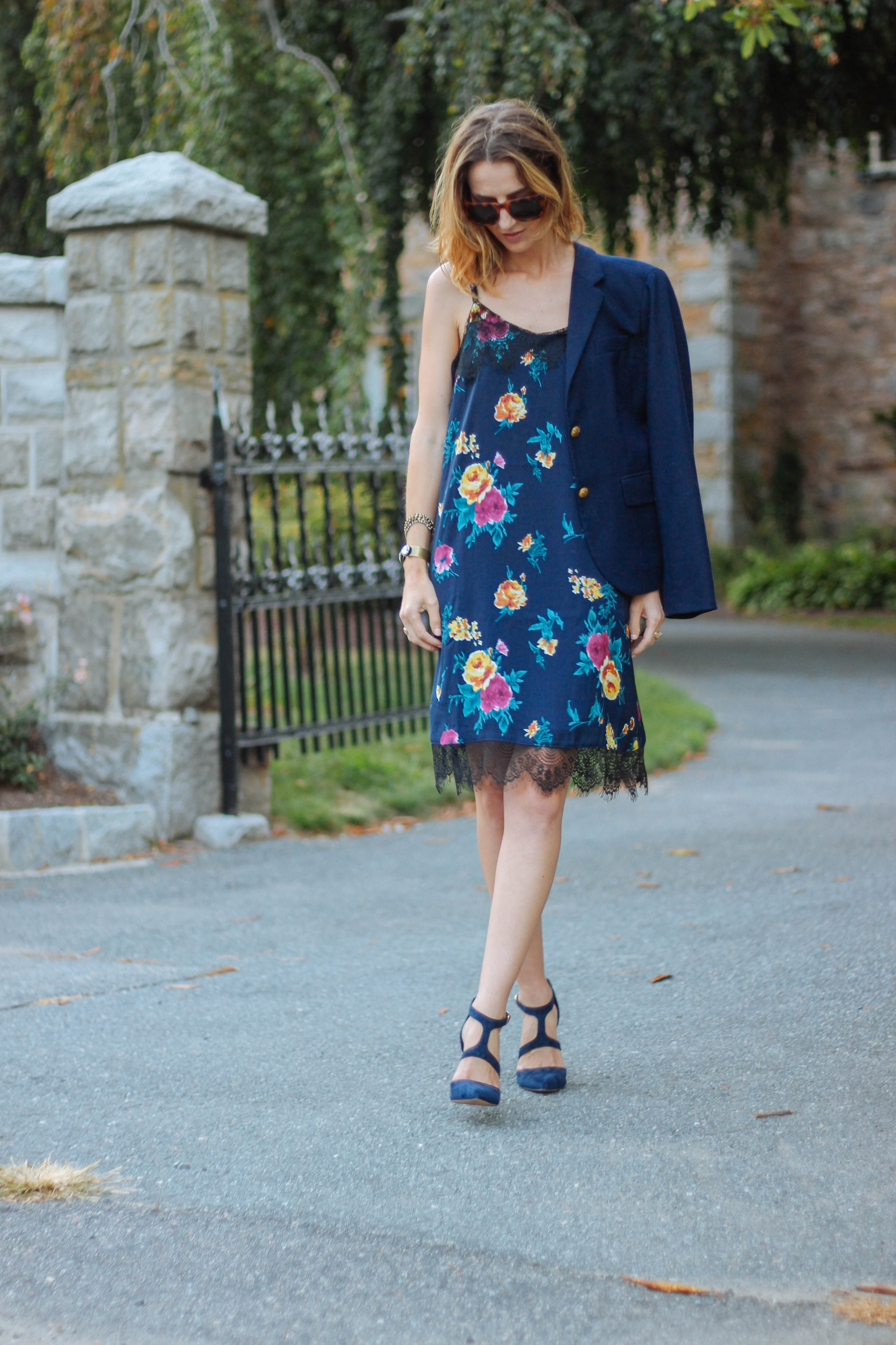 FLORAL MIDI DRESS - Prosecco & Plaid - A RI based life and style blog
