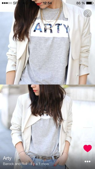 jewels white pink liberty sweater arty t-shirt coat