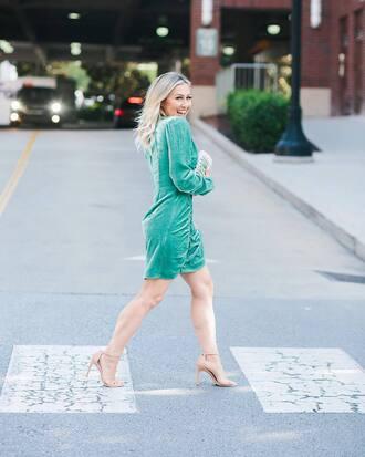 dress green dress sandals shoes