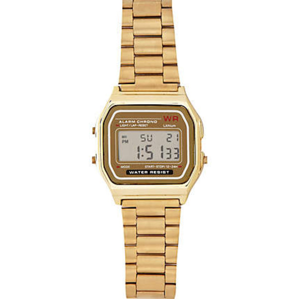 jewels watch metallic gold swag dope gold Casio