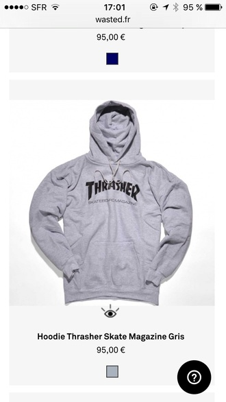 sweater grey sweater thrasher