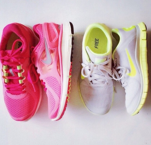 shoes nike trainers cute pink