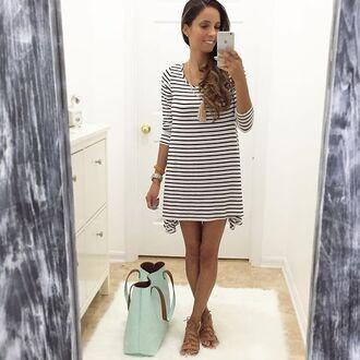 dress stripes black and white stripes striped dress stripes tunic striped tunic black tunic white tunic