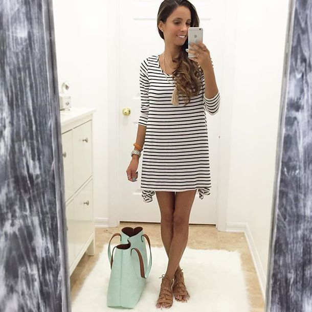 28d17f6129e dress stripes black and white stripes striped dress striped dress stripes  tunic striped tunic black tunic