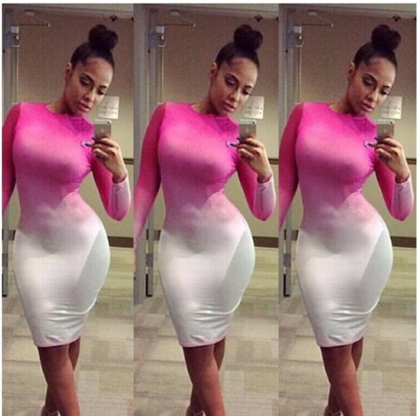 dress pink dress white dress