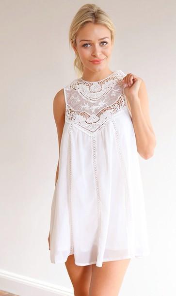 dress white mura boutique 'heartlines' dress mura