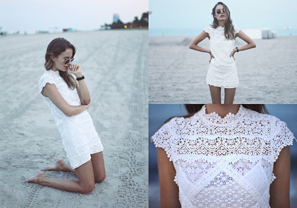 kimchi blue mary kate crochet shift dress sunglasses