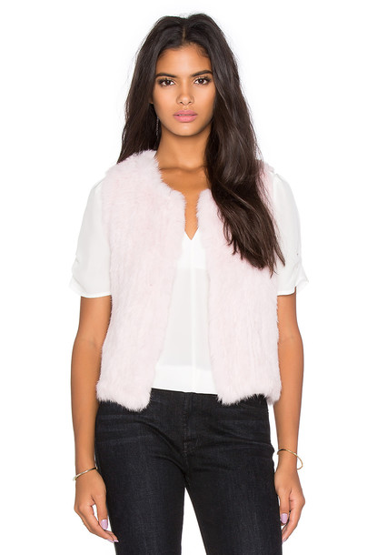 525 america vest fur vest fur pink
