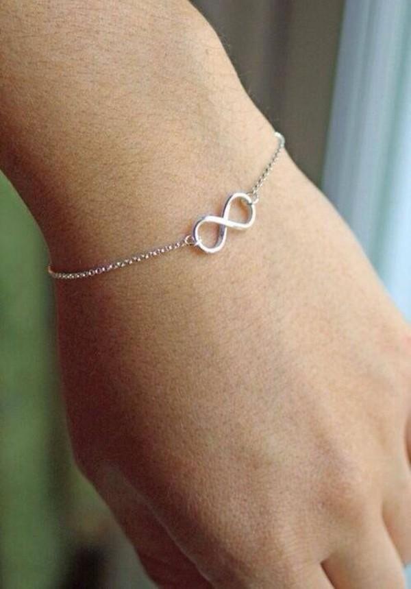 jewels infinity bracelets silver