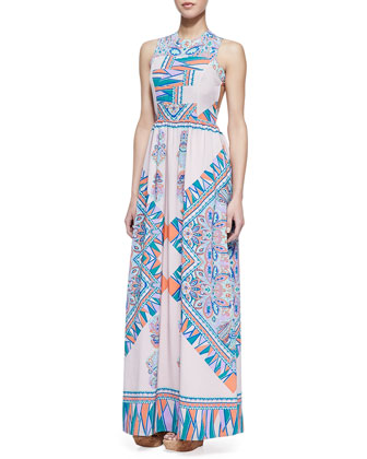 Lovers   Friends Kitty Cat Blush Scarf Patterned Maxi Dress (Stylist Pick!)