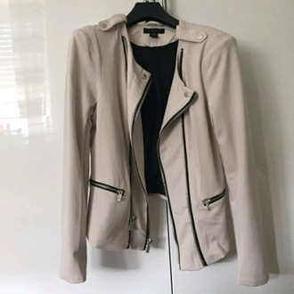 jacket beige jacket cool modern black jacket urban love zipper jacket grunge jacket