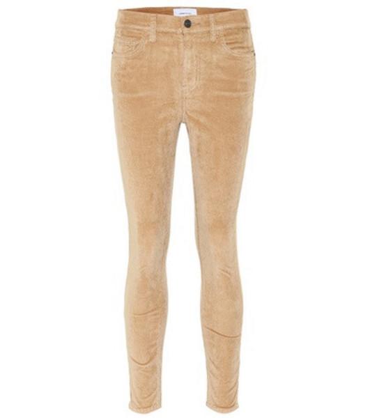 Current/Elliott Stretch-cotton pants in beige / beige