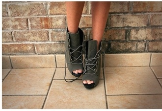 shoes high heels lace up ankle boots lace up heels lace up high heels open toes
