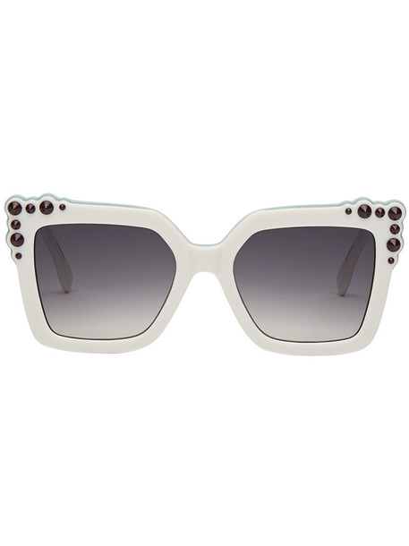 Fendi Eyewear women plastic sunglasses white