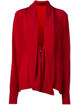 shirt draped red top