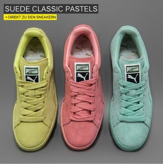 shoes puma puma classic pastel suede shoes puma sneakers suede classic puma suede classic pastel pink pink trainers women's women