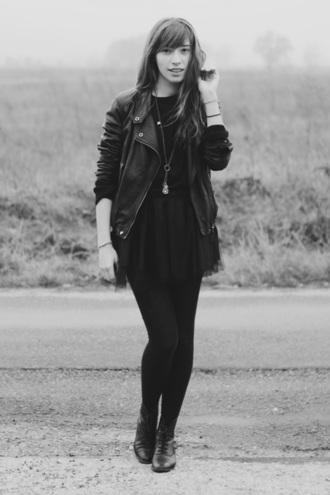 jacket black jacket cookie typhaine