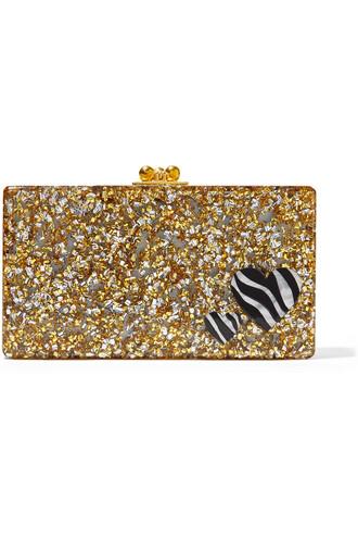 zebra clutch gold bag