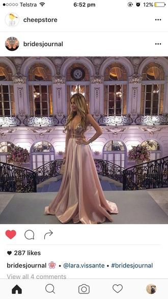 dress pink pink dress ball gown dress bridel prom dress prom gown prom