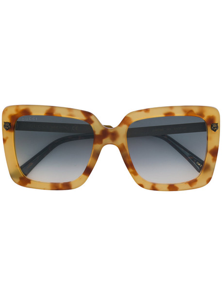 Gucci Eyewear metal women sunglasses brown
