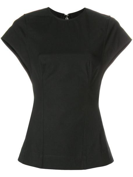 Rick Owens blouse women spandex cotton black top