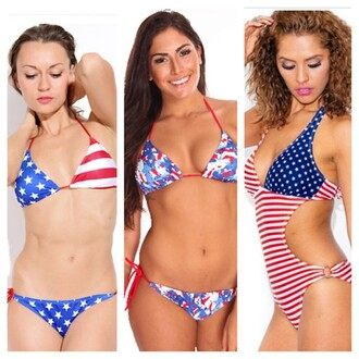 swimwear trendyish american flag bikini one piece monokini forth of july beach summer pool vacation