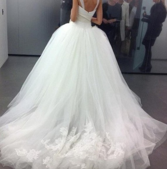 dress wedding dress ball gown tulle wedding dresses