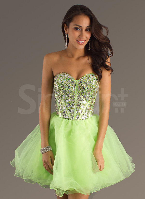 dress short prom dress fit for  prom rhinestones