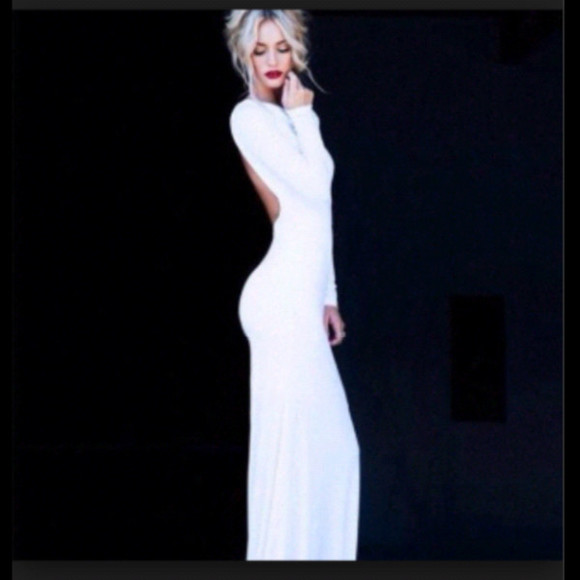 dress long sleeve dress white dress long dress