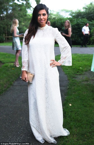 kourtney kardashian bag dress maxi dress clutch white dress