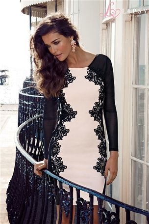 Buy Lipsy Long Sleeve Lace Silhouette Bodycon Dress from the Next UK online shop