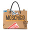Moschino - sticker motif tote bag - women - leather - one size, leather