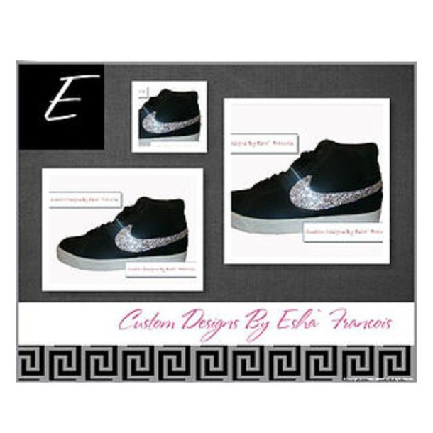 ... closeout shoes custom bling clear rhinestone nike blazer sb nike nike  blazer nike sb clear crystal 447227c6d571